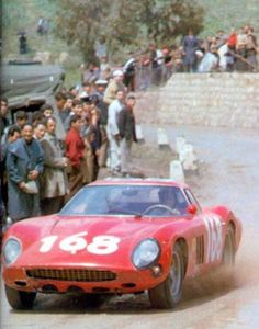 1966 Targa Florio. # 168 Ferrari 250 GTO 64 driven by Marsala / Reale finished in 39 place, completing 8 laps.