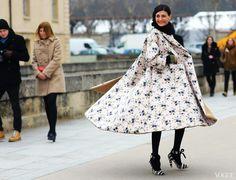 Paris Fashion Week Fall 2013  Giovanna Battaglia  Rochas coat  Photographed by Phil Oh