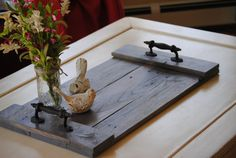 Wooden Tray - Serving Platter - Centerpiece - Home Decor - Ottoman Tray - Wooden Display - Handcrafted from Reclaimed Wood - Made to order