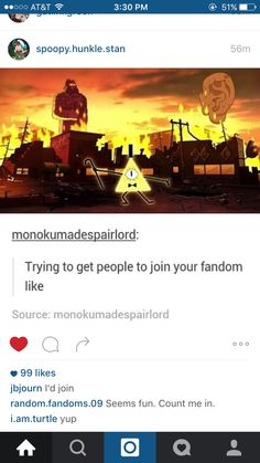 Funny. This is almost exactly how I introduced my friend at school to Gravity Falls. She's hooked now.