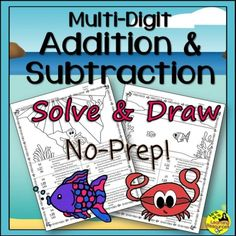 Multi-Digit Addition and Subtraction No-Prep Printables