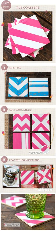 ☼ DIY Coasters - Design That Inspires Blog... I WANT TO DO THIS!!!