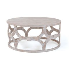 Laurier Blanc- Adastra Round Coffee Table