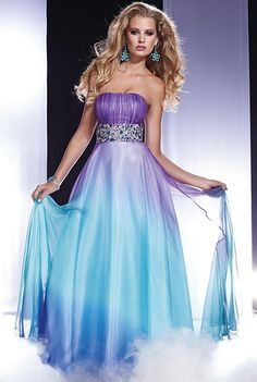 Prom Dresses 2012 Panoply Ombre Chiffon Dress 14435