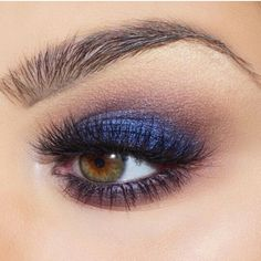 Purple transition with Blue eyelid.