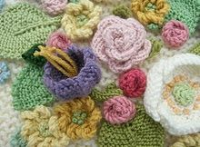 Knitted flowers--beautiful!