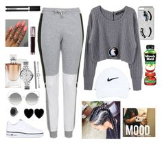 """Sunday = Family Time *dabs*"" by cissylion ❤ liked on Polyvore featuring Chiara Ferragni, Proenza Schouler, Topshop, NIKE, Dollydagger, Marc Jacobs, Lancôme, FOSSIL, Urban Decay and Givenchy"