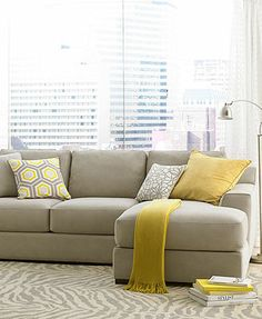 Loui Fabric Sectional Living Room Furniture Collection