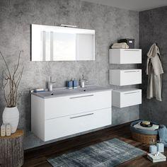 Parce que les meubles de la collection Akido proposent différentes largeurs et profondeurs et une large palette de couleurs, les combinaisons et compositions seront multiples pour pour répondre aux besoins de modularité, d'adaptabilité et d'ergonomie dans une salle de bains contemporaine. Prix sur demande. Ambiance Bain