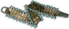 Tila Bead Bracelet #2  Tila beads provide a unique base for seed bead looped fringe.