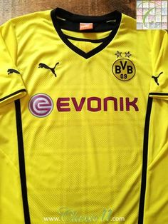 Official Puma Borussia Dortmund home football shirt from the 2013/14 season.