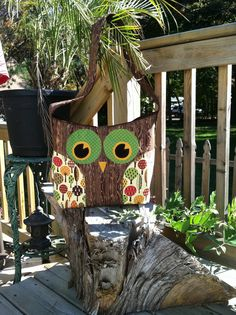 Love the eyes on this - and that tree fabric is crazy awesome