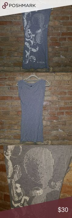 UNIQUE Gray dress. DIESEL Diesel dress/tunic. Short for a dress, i always wore with leggings. Size. M Diesel Dresses Mini