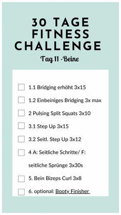 30 Tage Fitness Challenge zuhause - Tag 11: Beine