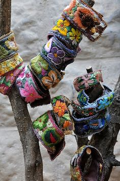 bohemian cuffs for clothes or as bracelets, gypsy chic gifts to make