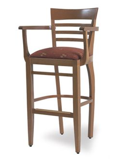 """""""Modena Wood Arm Bar Stool"""" A touch of southern hospitality. With it's fine lines and contours. The Modena speaks of unrushed fine dining. Please contact us for pricing Restaurant Furniture, Bar Furniture, Wood Bar Stools, Southern Hospitality, Contours, Dining Room Chairs, Fine Dining, Man Cave, Kitchen Ideas"""
