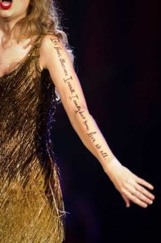 """Arm Lyrics for November 5, 2011  """"It's love's illusions that I recall I really don't know love at all.""""  Joni Mitchell - Both Side Now"""