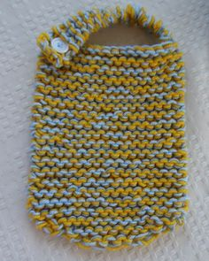 Baby Boys Knitted Multicoloured Bib by LivelyLoops on Etsy, $24.95