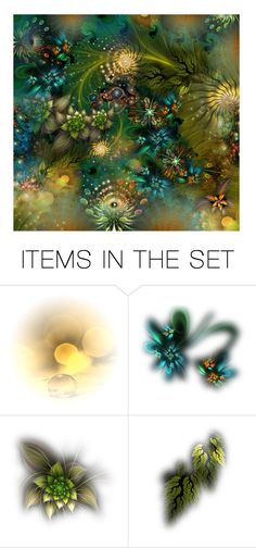 """Psychedelic light collage..."" by k-schrager ❤ liked on Polyvore featuring art"