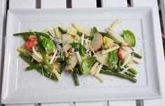 stuttgartcooking: Grüne-Bohnen-Pfirsich-Salat mit Kartoffeln und Nudeln