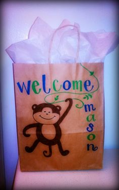 My first personalized gift bag, just for baby Mason<3