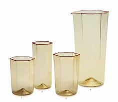 Venini, Esagonali Glasses by Carlo Scarpa