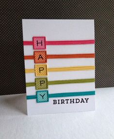 Love this card by Lisa Adessa using New Simon Says Stamp Dies. Love this card by Lisa Adessa using New Simon Says Stamp Dies. Handmade Birthday Cards, Happy Birthday Cards, Greeting Cards Handmade, Diy Birthday, Birthday Wishes, Simple Birthday Cards, Tarjetas Diy, Karten Diy, Bday Cards