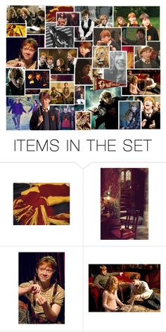 """""""Ronald Weasley// Weasley Is Our King & The King of Facial Expressions//"""" by thehelsinghatter ❤ liked on Polyvore featuring art, RonWeasley and PottermoreInPolyvoreMagicChallenge"""