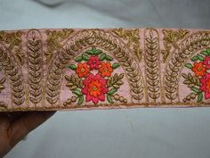 Sari Border Trim By The Yard Silk Embroidered Ribbon