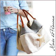 sac cabas réversible en lin argenté