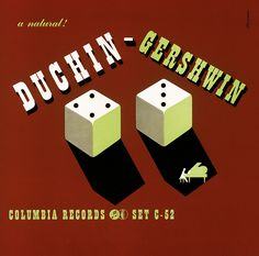 Duchin – Gershwin – vintage album cover by Alex Steinweiss