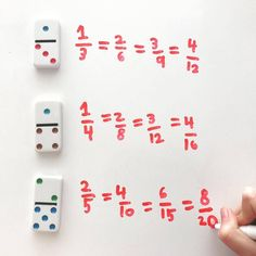 Equivalent Fractions: Don't have fraction cards? Dominoes make a great substitute. This no-prep activity makes for an easy math center for writing equivalent fractions in and grade. Teaching Fractions, Math Fractions, Teaching Math, Dividing Fractions, Adding Fractions, Math Resources, Math Activities, Equivalent Fractions, Math Tutor