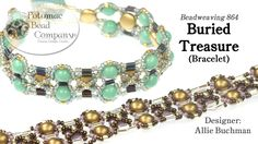 """This video tutorial from The Potomac Bead Company teaches you how to make Allie Buchman's """"Buried Treasure"""" bracelet design. Find a complete list of supplies..."""