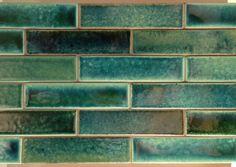 SenecaBrick | Seneca Tiles || Glazed tiles in custom blend of teal/turquoise colors.