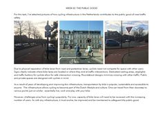 Week 02 - The Public Good: How cycling infrastructure in The Netherlands contributes to road traffic safety
