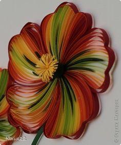 Картина панно рисунок Квиллинг Аленький цветочек Бумажные полосы фото 4