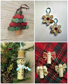 02-decoracion-navidad-arbol, DECORACIÓN PARA EL ÁRBOL Con corchos también puedes crear bonitos adornos para el árbol de navidad, desde estrellitas hasta angelitos.