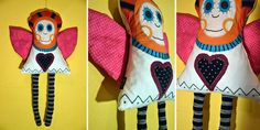 SZOKA DESIGN, angel, Christmas, handmade, textile, toy