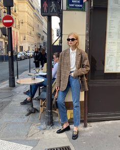 """Filippa Hägg on Instagram: """"Vasilina in the oversized blazer"""" Oversized Blazer, Plaid Blazer, Jacket Style, Her Style, Street Photography, Mom Jeans, Normcore, Street Style, Style Inspiration"""