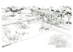 Hand Rendering Over Sketchup Base - Architectural drawing / rendering / diagram - Presentation layout