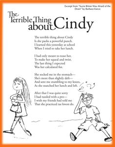 Funny Children's Poem about a strong girl dealing with bullying- Great for school and classroom activities. common core first grade, second grade, third grade reading Funny Poems For Kids, Kids Poems, Quotes Children, Children Songs, Poetry Unit, Writing Poetry, Teaching Poetry, Teaching Reading, Anti Bullying Activities