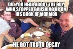 Book of Mormon Dad Joke Meme