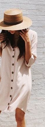 #summer #outfits / button down dress
