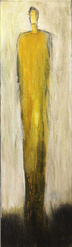 2308 (Edith Konrad) - Artspace Warehouse - buy or rent affordable original art (abstract, urban, pop, photo, sculptures) Affordable Art Fair, La Art, Yellow Art, Arts Award, Culture, Mixed Media Canvas, Figure Painting, Contemporary Art, Original Art