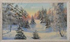 Деревья в снегу - Зимний пейзаж <- Картины маслом <- Картины - Каталог | Универсальный интернет-магазин подарков и сувениров