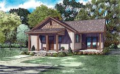 House Plan 82346 | Cottage Craftsman Plan with 859 Sq. Ft., 2 Bedrooms, 1 Bathrooms