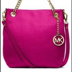 Michael Kors Jetset Crossbody New Authentic MK Crossbody Bag. Goldtone Hardware. Adjustable Chain. MICHAEL Michael Kors Bags Crossbody Bags