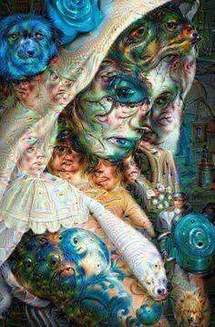 Deep Dream filter mask digital art