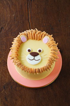 Lion cake (cute for smash cake)