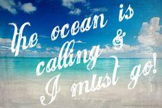 the ocean is calling & I must go!